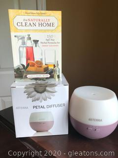 The Naturally Clean Home Book and Dottera Petal Diffuser
