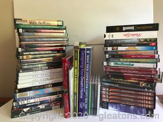 Lot of DVD Movies DIY Projects Books and CDs