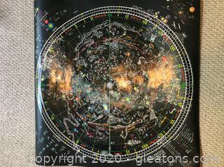Rare Out of Print Celestial Art Glow Dark Universe
