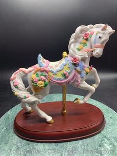 The Rose Prancer Carousel Horse by Lenox