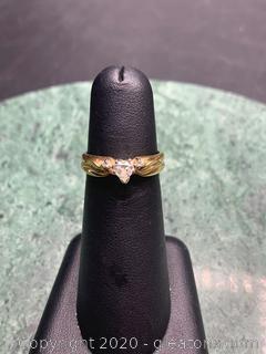 14k Heart Shaped Diamond Ring