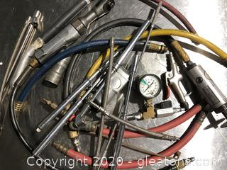 Assorted Air Tools and Hoses