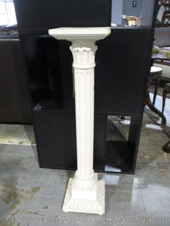Solid Wood Column Plant Stand