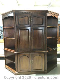 Three Piece Entertainment Center and Side Book Shelves
