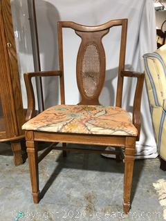 Vintage Straight Back Accent chair (a)
