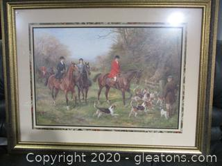 Large Framed Print of Fox Hunt
