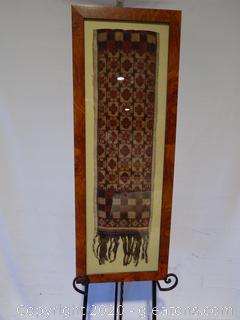 Rare Framed Bali Textile A