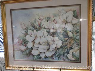 Beautifully Framed Print of Magnolias by Deb Collins