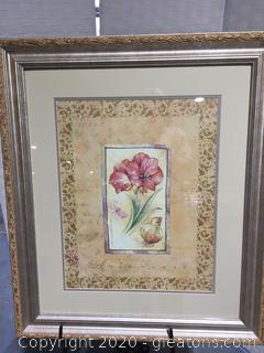 Beautifully Framed Flower Print