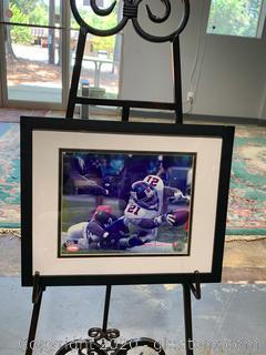 Tiki Barber Autographed Framed Photo