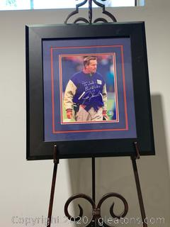 Jim Fassel Autographed Framed Photo