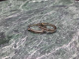 WG 14k and Diamond Earrings