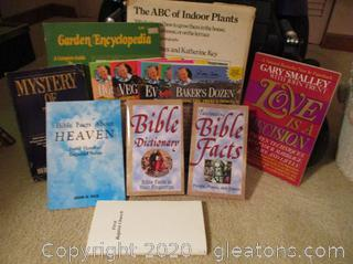 Book Lot F- Books About Plants, Bible and Love