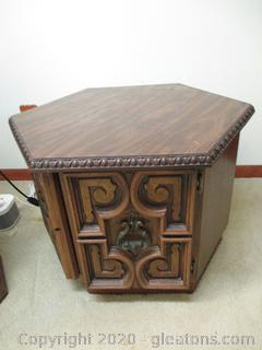 Mid Century 6 Sided Side Table