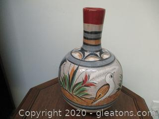 Ceramic Hand-Painted Vase