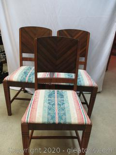 Set of Three Antique Dining Chairs
