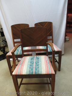 Three Antique Dining Chairs