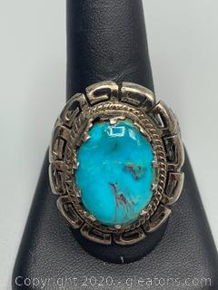 """""""Sam Begay"""" Native American Turquoise Ring"""