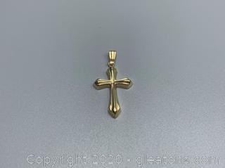 14K Yellow Gold Cross