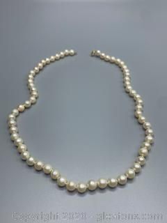 14K Yellow Gold Cultured Pearls