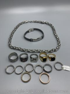 Assortment of Men's Stainless Jewelry