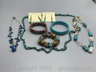 Assorted Turquoise Necklaces Bracelets and Earrings