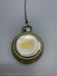 Geneva Locomotive Pocket Watch