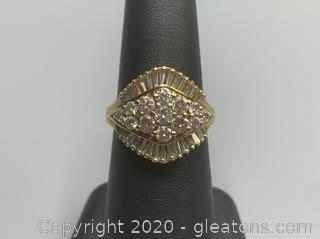 Vintage 2.2 Carat Diamond Ring 14K