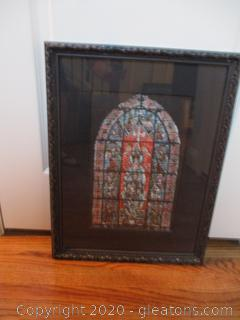 Chartres Stained Glass Window Framed Art
