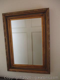 Oversized Gold Frame Mirror