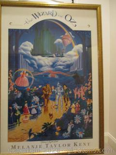 SIGNED Melanie Taylor Kent Framed Wizard of Oz Art Print