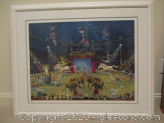 "Sally Caldwell Fisher ""Monte Carlo Cirque"" Signed Lithograph"