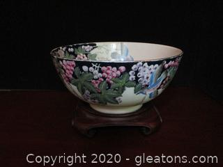 Vintage Hand Painted Chinese Bowl Made in Macau