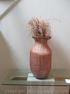 Woven Basket with Sea Grass