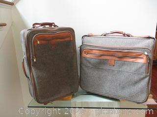 2 Pieces Vintage Hartman Luggage