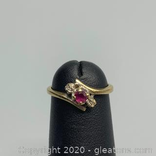 10K Yellow Gold Ruby Ring - Guaranteed and Free Shipping