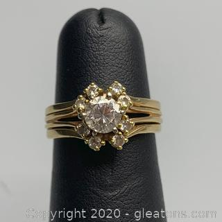 APPRAISED 14K Diamond Ring with Guard - Guaranteed and Free Shipping