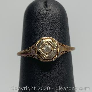 Antique Diamond Art Deco Ring - Guaranteed and Free Shipping