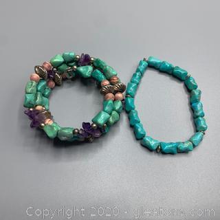 Turquoise and Gemstone Bracelets