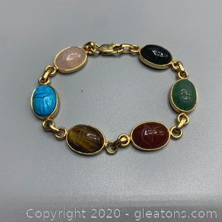 Gemstone Carving Bracelet