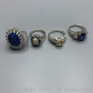 Gemstone and Sterling Rings