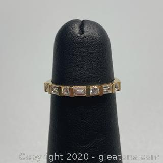 14K Cubic Zirconia (CZ) Ring