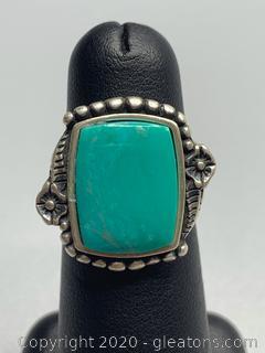 Wilson Jim Sterling Turquoise Ring