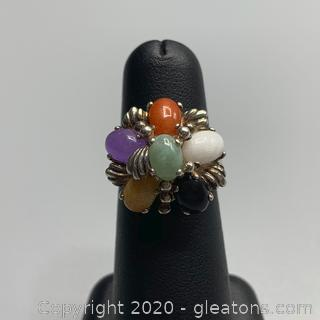 Sterling and Gemstone Ring