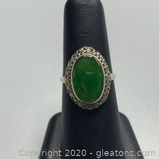 Sterling Chrysoprase Ring