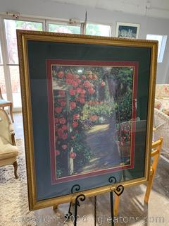 Large Floral Artwork From Crown Fine Arts