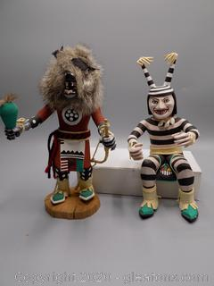 Hand Carved Native American Kachina Dolls