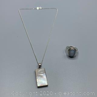 Mother of Pearl Sterling Set