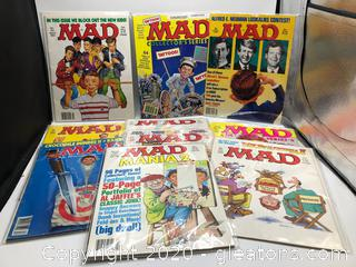 Vintage but Brand New Lot of 10 Mad Magazine (c)