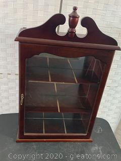 Small Mahogany Hanging Curio Cabinet